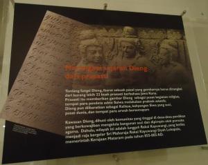 Deskripsi Tentang Dieng di Museum Kailasa...