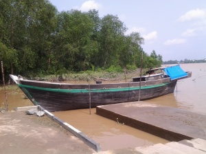 Perahu di Kuala Getek, Tembilahan